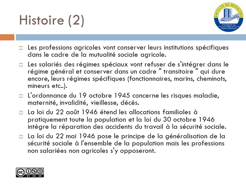 Histoire (2) Les professions agricoles vont conserver leurs institutions spécifiques dans le cadre de la mutualité sociale agricole.