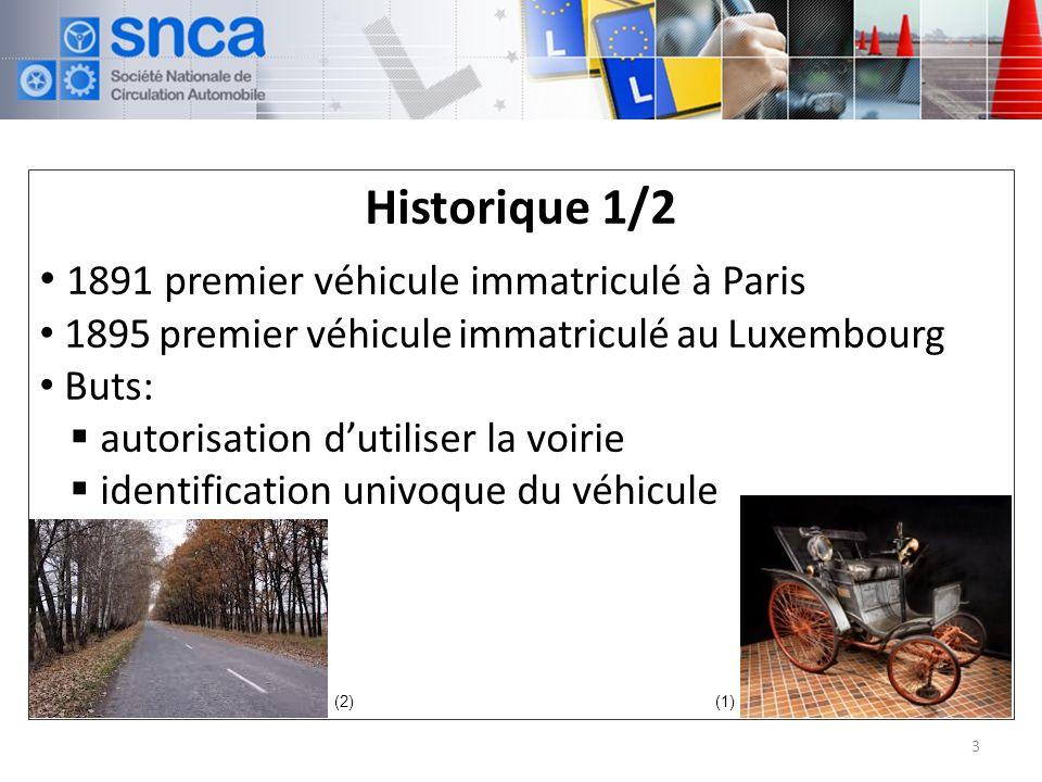 Historique 1/2 1891 premier véhicule immatriculé à Paris