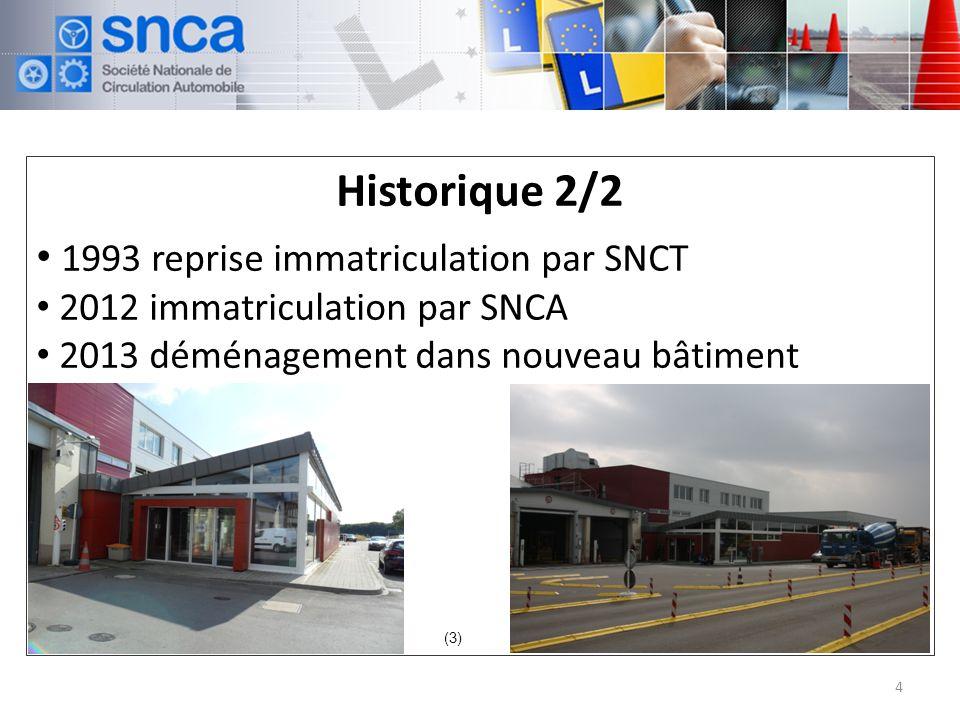 Historique 2/2 1993 reprise immatriculation par SNCT