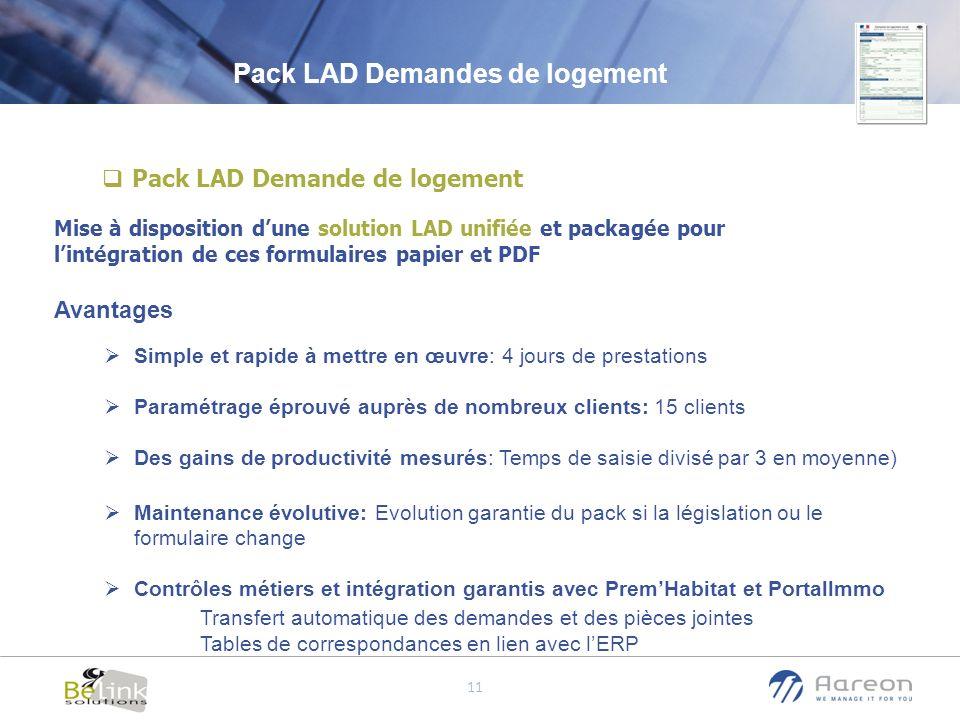 Pack LAD Demandes de logement