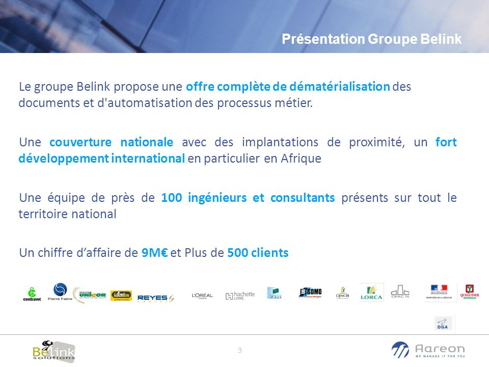 Présentation Groupe Belink