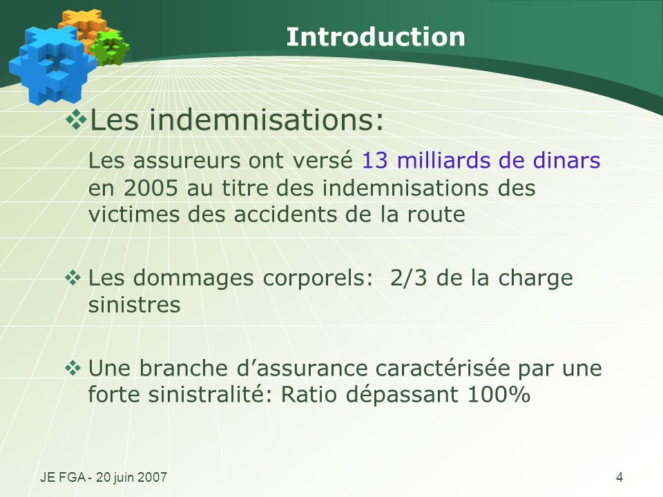 Les indemnisations: Introduction