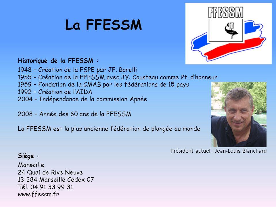 La FFESSM Historique de la FFESSM :