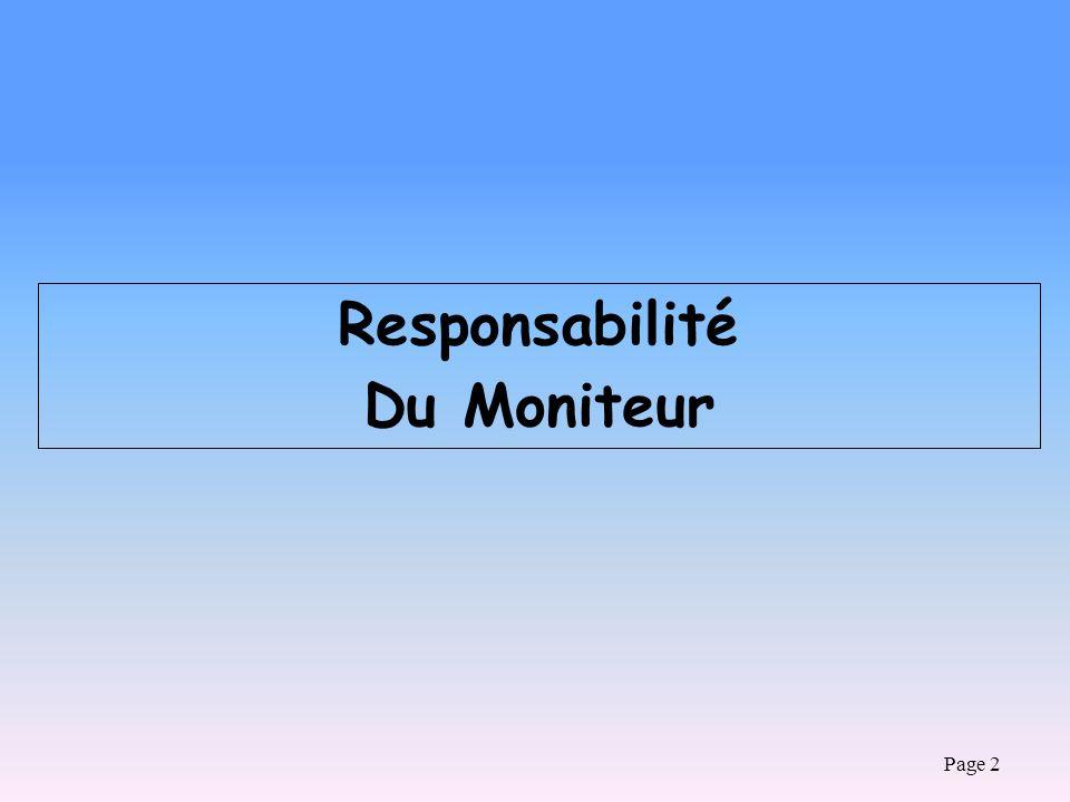 Responsabilité Du Moniteur