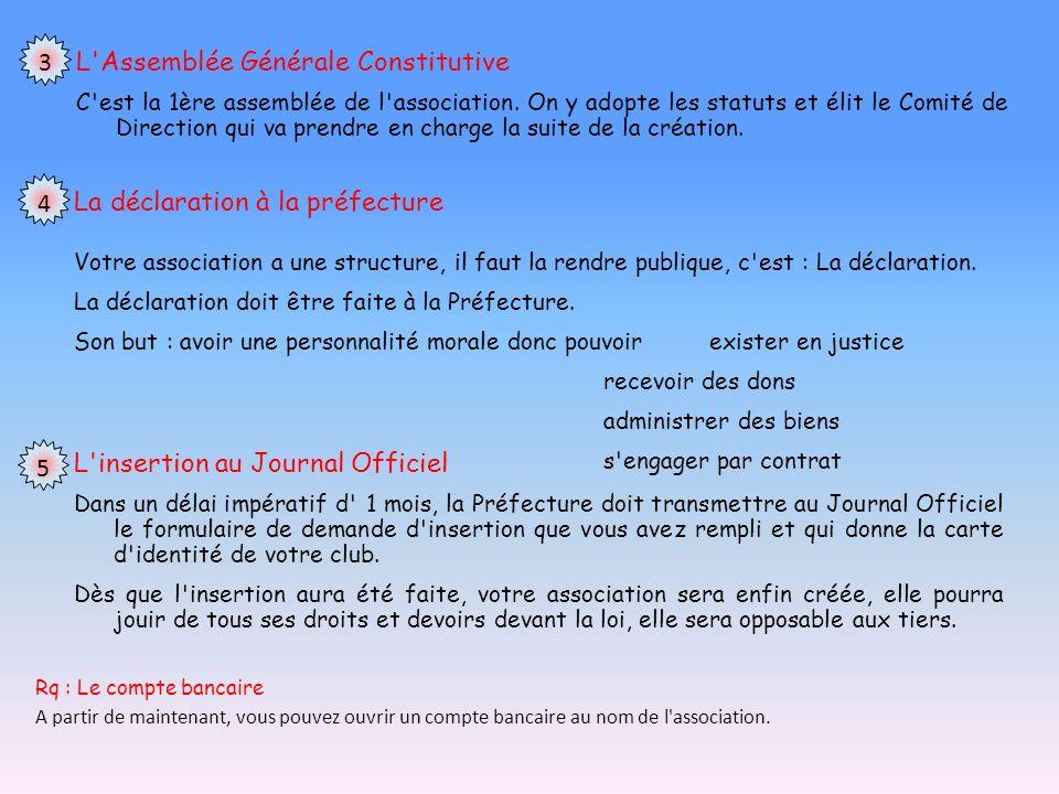 L Assemblée Générale Constitutive