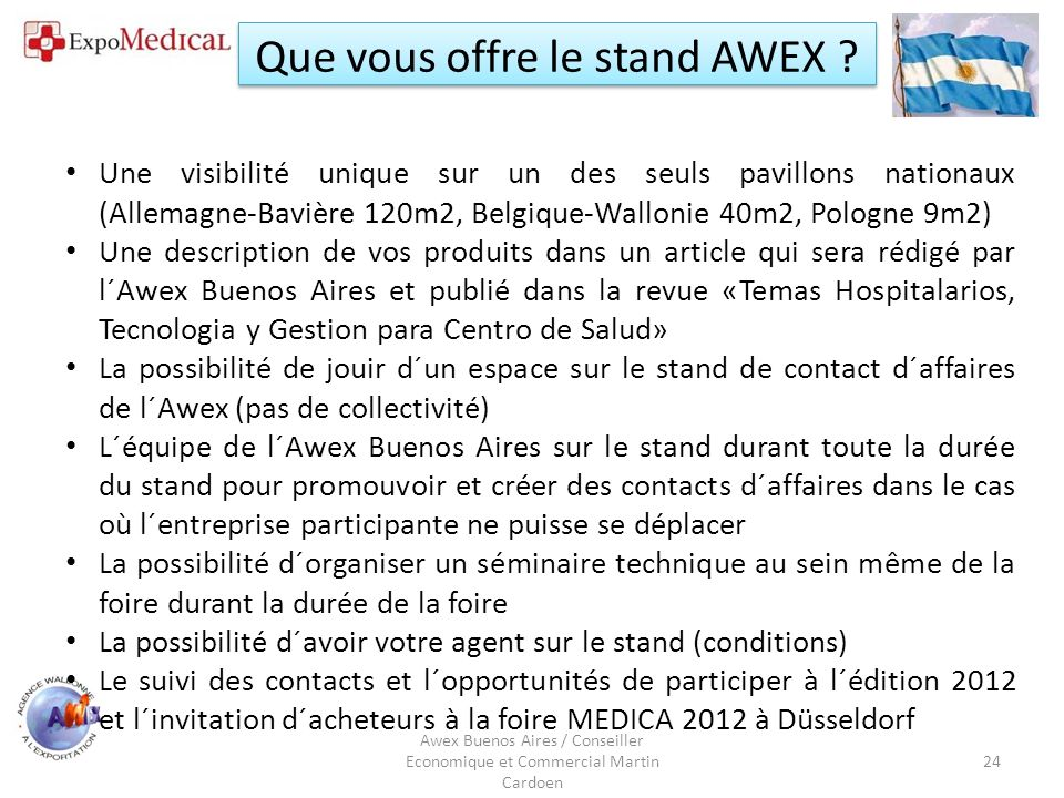 Que vous offre le stand AWEX