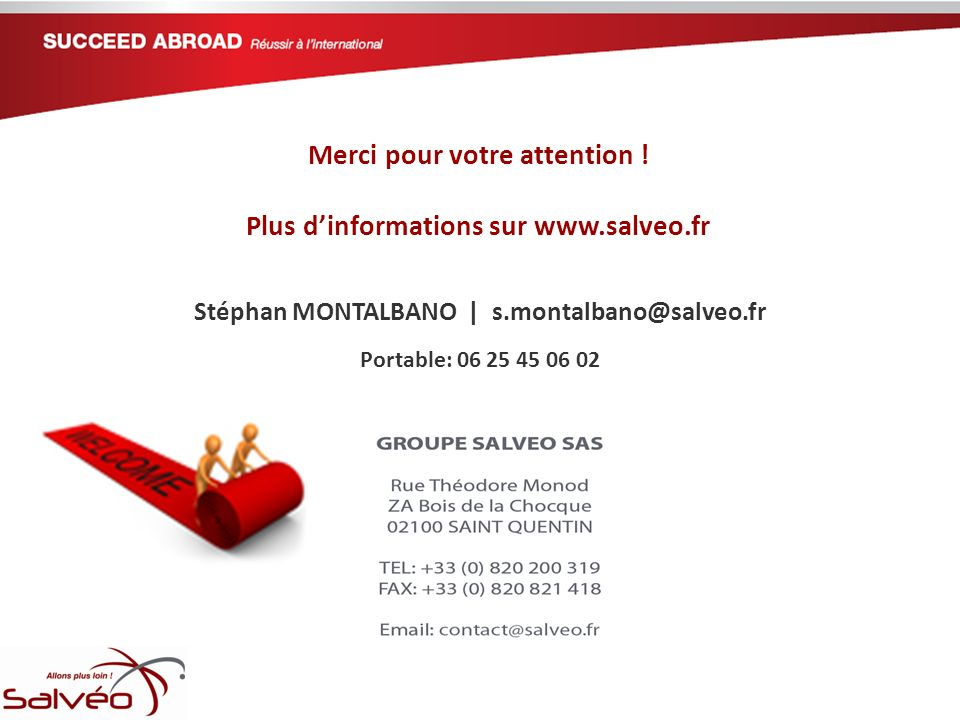 Merci pour votre attention ! Plus d'informations sur www.salveo.fr