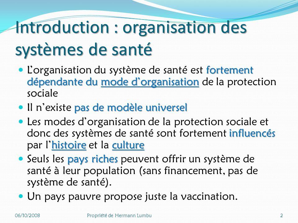 Introduction : organisation des systèmes de santé