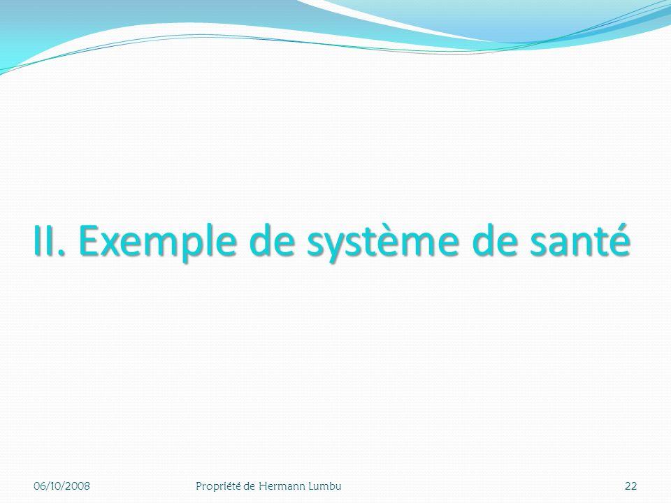 II. Exemple de système de santé