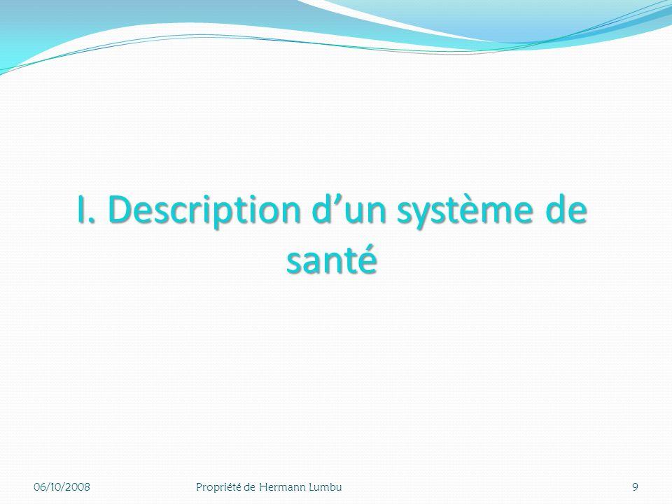 I. Description d'un système de santé