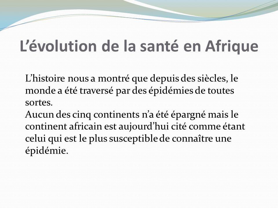 L'évolution de la santé en Afrique
