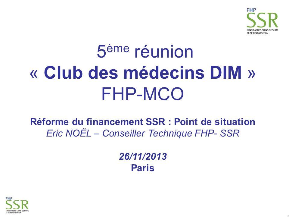 « Club des médecins DIM » FHP-MCO