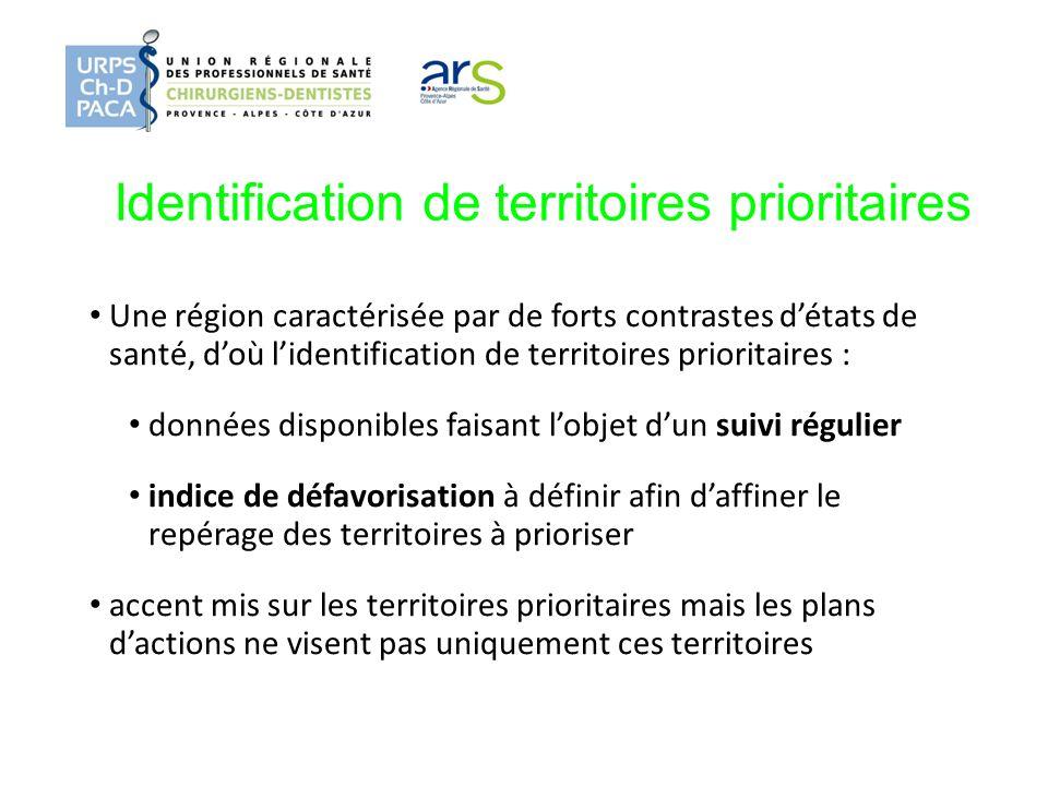 Identification de territoires prioritaires