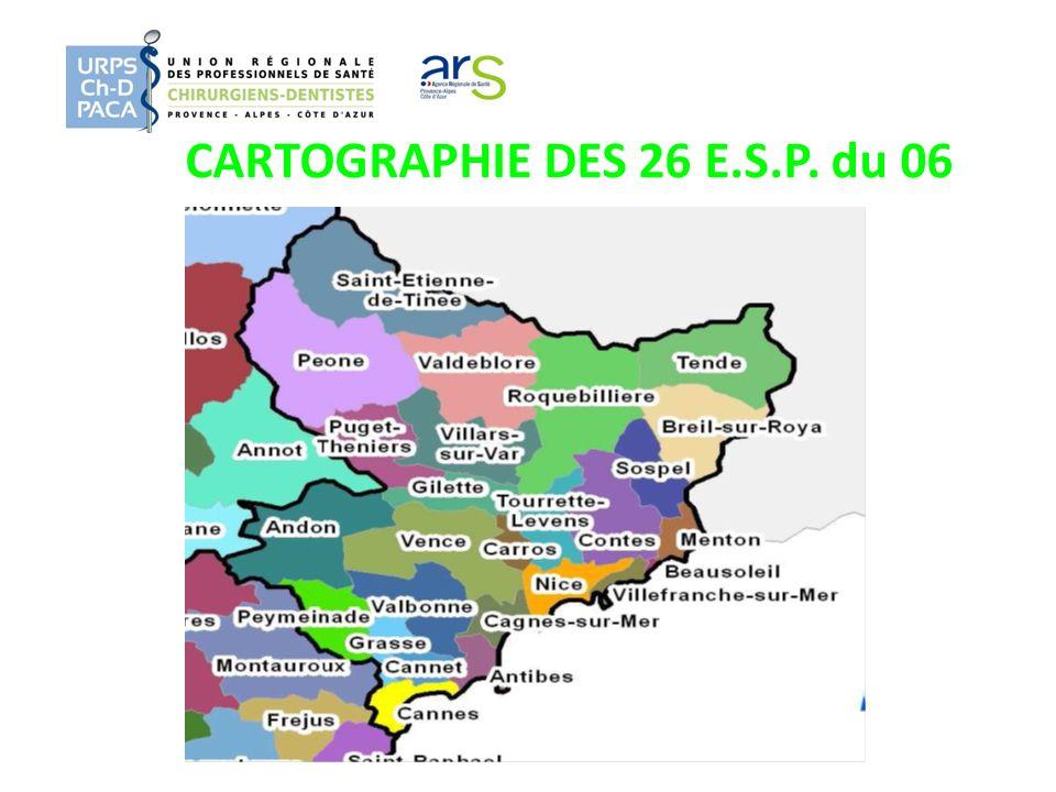 CARTOGRAPHIE DES 26 E.S.P. du 06