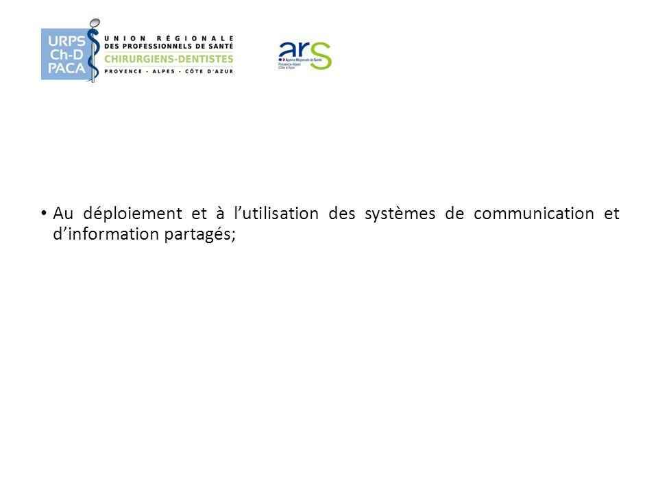 Au déploiement et à l'utilisation des systèmes de communication et d'information partagés;