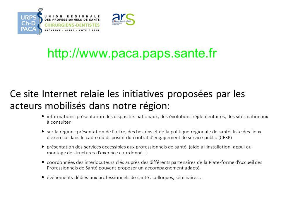 http://www.paca.paps.sante.fr Ce site Internet relaie les initiatives proposées par les acteurs mobilisés dans notre région: