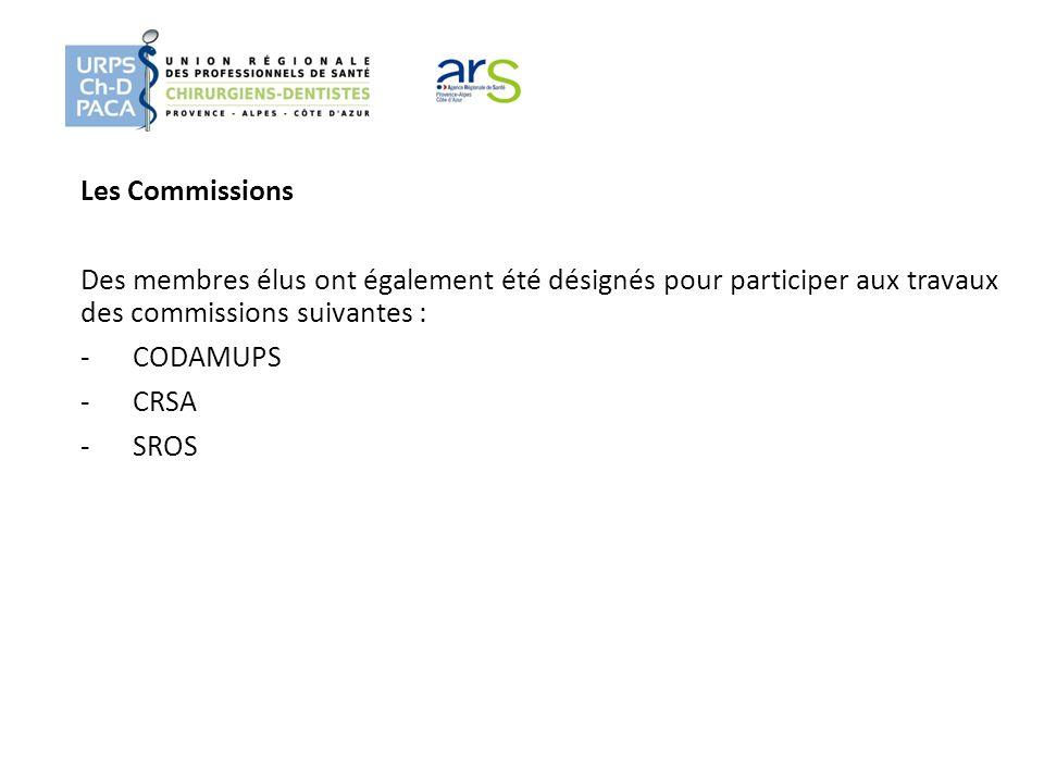 Les Commissions Des membres élus ont également été désignés pour participer aux travaux des commissions suivantes :