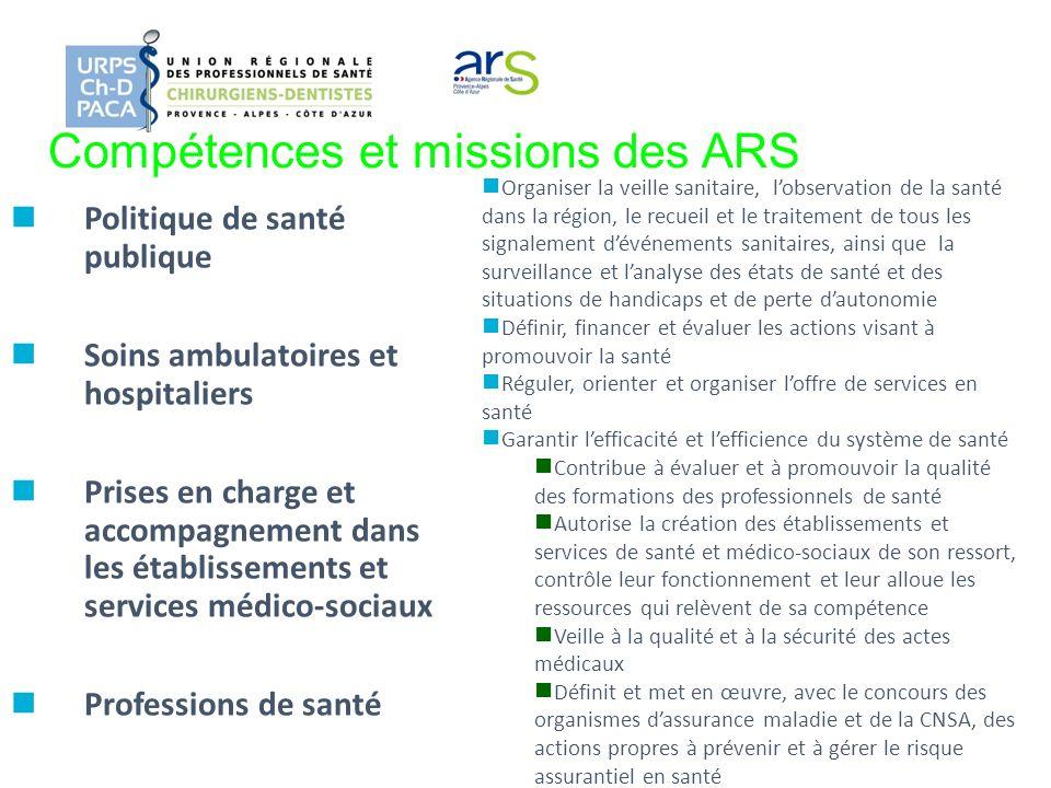 Compétences et missions des ARS