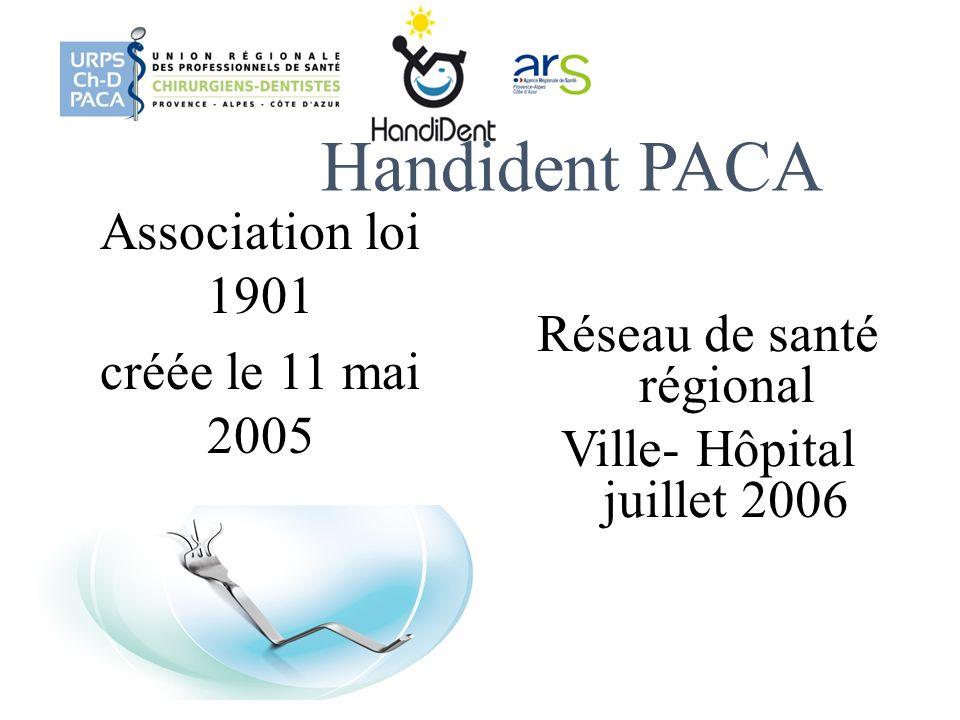 Handident PACA Association loi 1901 créée le 11 mai 2005