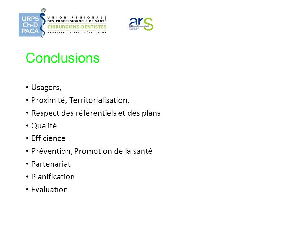 Conclusions Usagers, Proximité, Territorialisation,