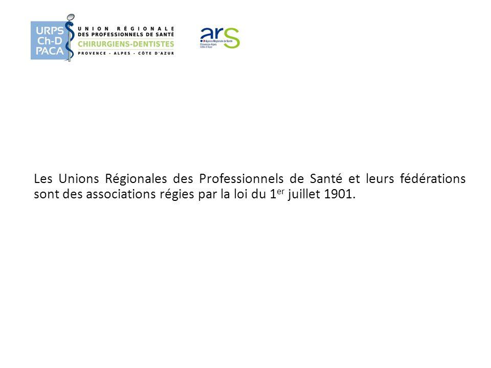 Les Unions Régionales des Professionnels de Santé et leurs fédérations sont des associations régies par la loi du 1er juillet 1901.