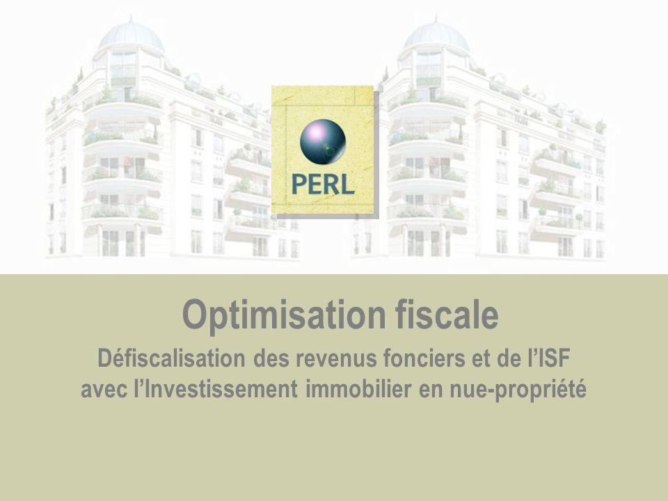 Optimisation fiscale Défiscalisation des revenus fonciers et de l'ISF avec l'Investissement immobilier en nue-propriété