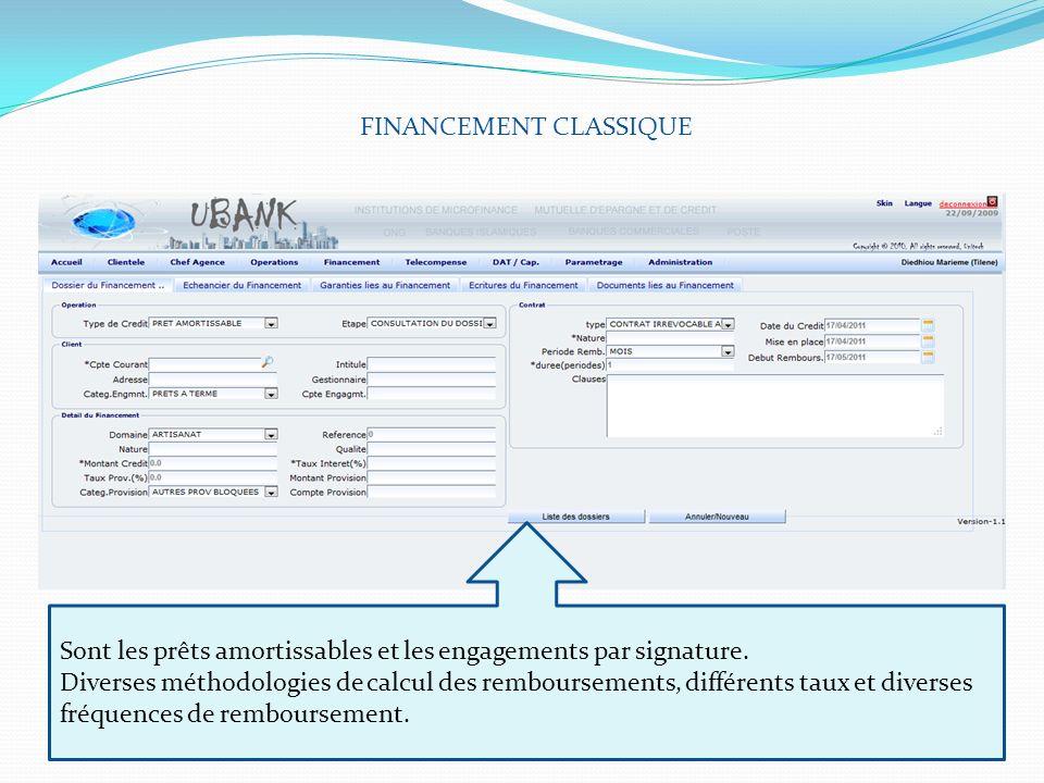 FINANCEMENT CLASSIQUE