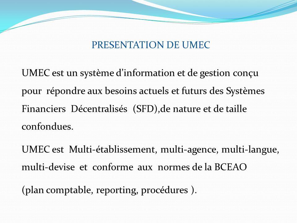 PRESENTATION DE UMEC