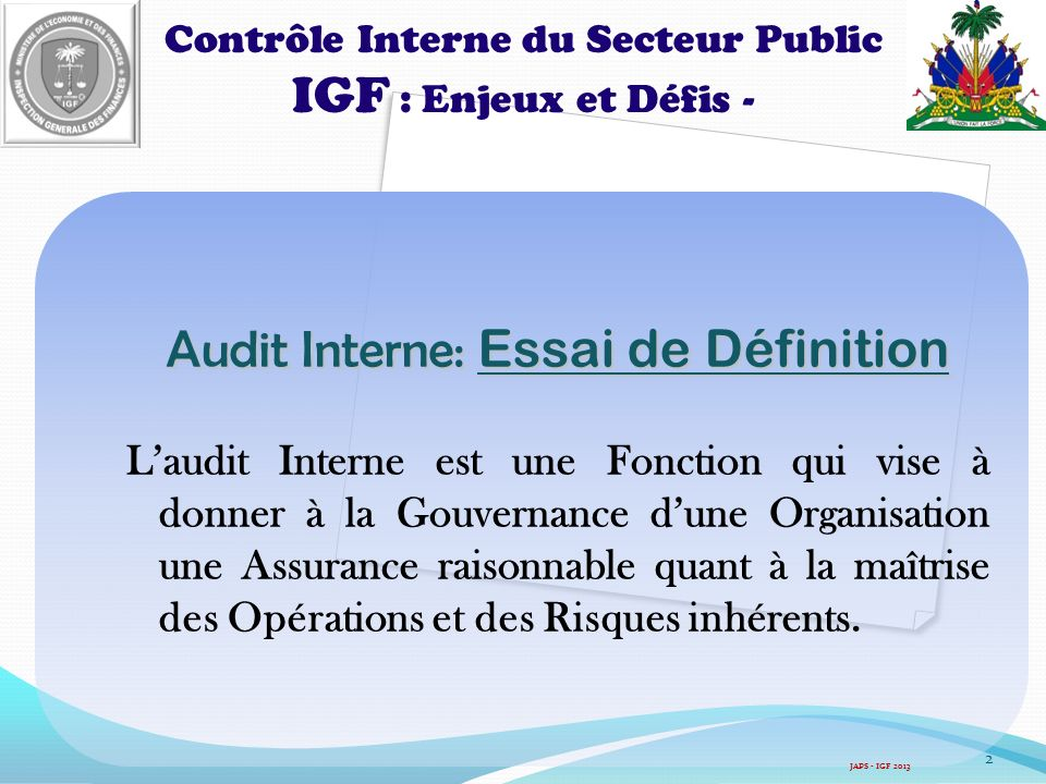 Audit Interne: Essai de Définition