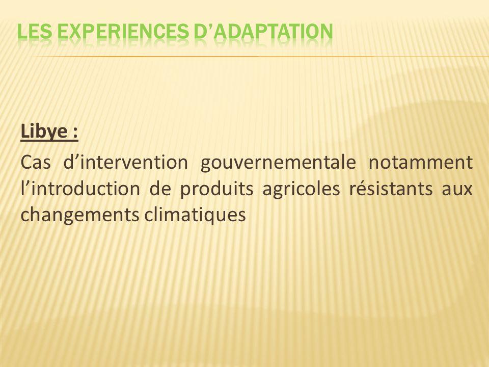 Les EXPERIENCES D'ADAPTATION