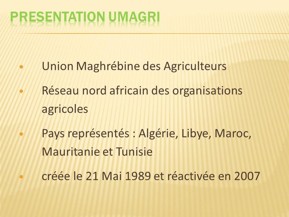 PRESENTATION UMAGRI Union Maghrébine des Agriculteurs