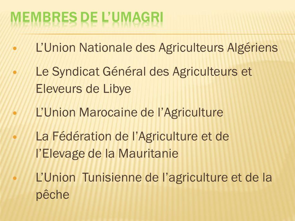 MEMBRES DE L'UMAGRI L'Union Nationale des Agriculteurs Algériens