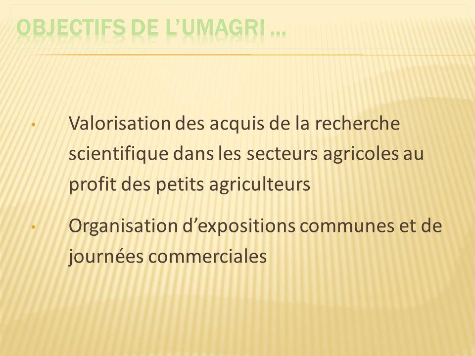 OBJECTIFS DE L'UMAGRI …