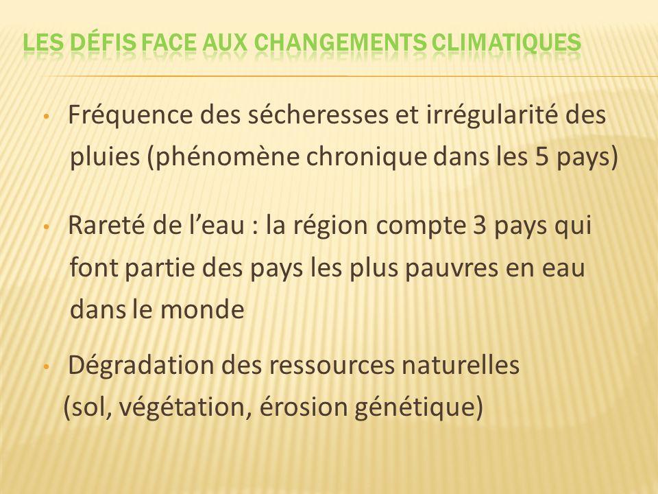 Les défis FACE AUX changements CLIMATIQUES