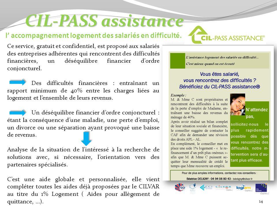 CIL-PASS assistance l' accompagnement logement des salariés en difficulté.