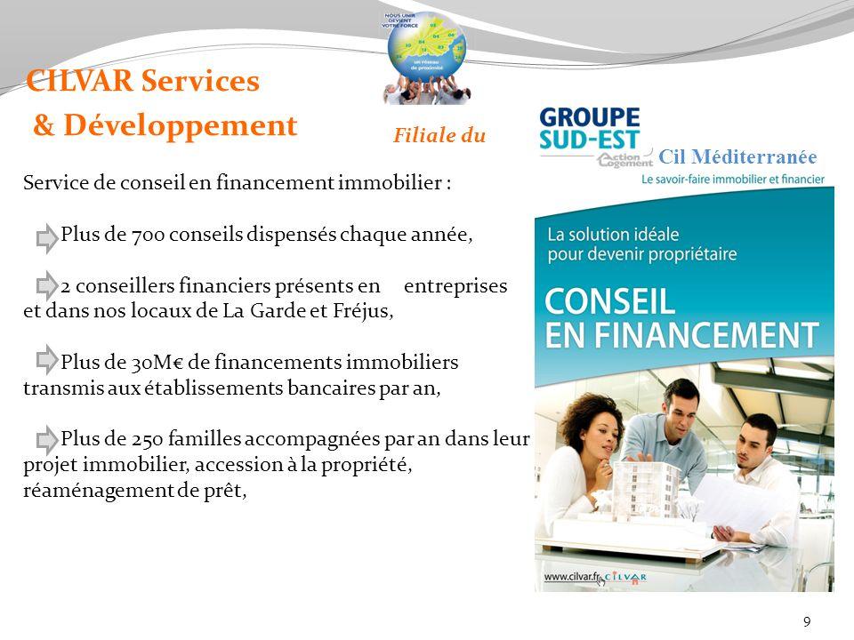 CILVAR Services & Développement Filiale du Cil Méditerranée