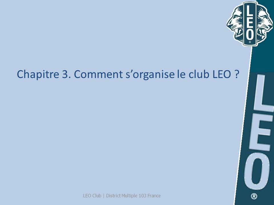 Chapitre 3. Comment s'organise le club LEO