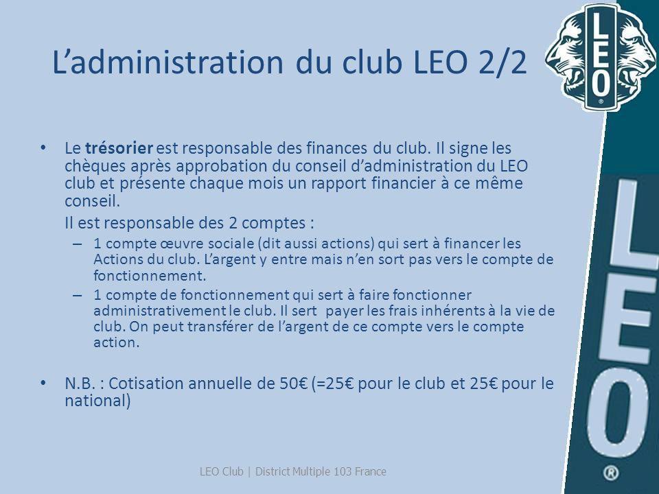 L'administration du club LEO 2/2