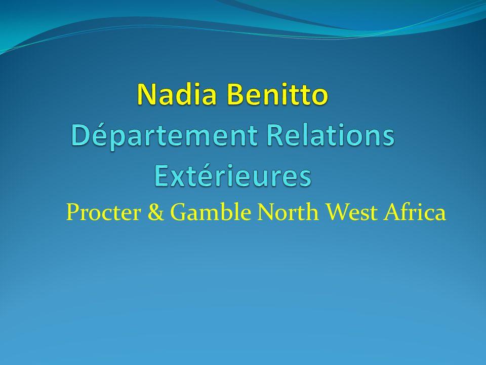 Nadia Benitto Département Relations Extérieures