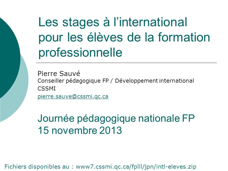 Les stages à l'international pour les élèves de la formation professionnelle