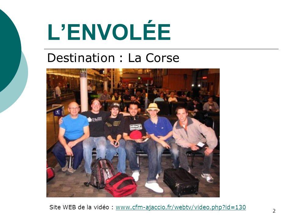 L'ENVOLÉE Destination : La Corse