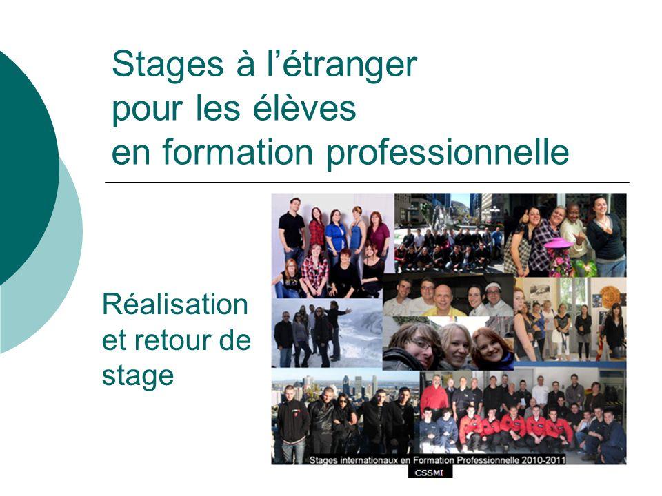 Stages à l'étranger pour les élèves en formation professionnelle