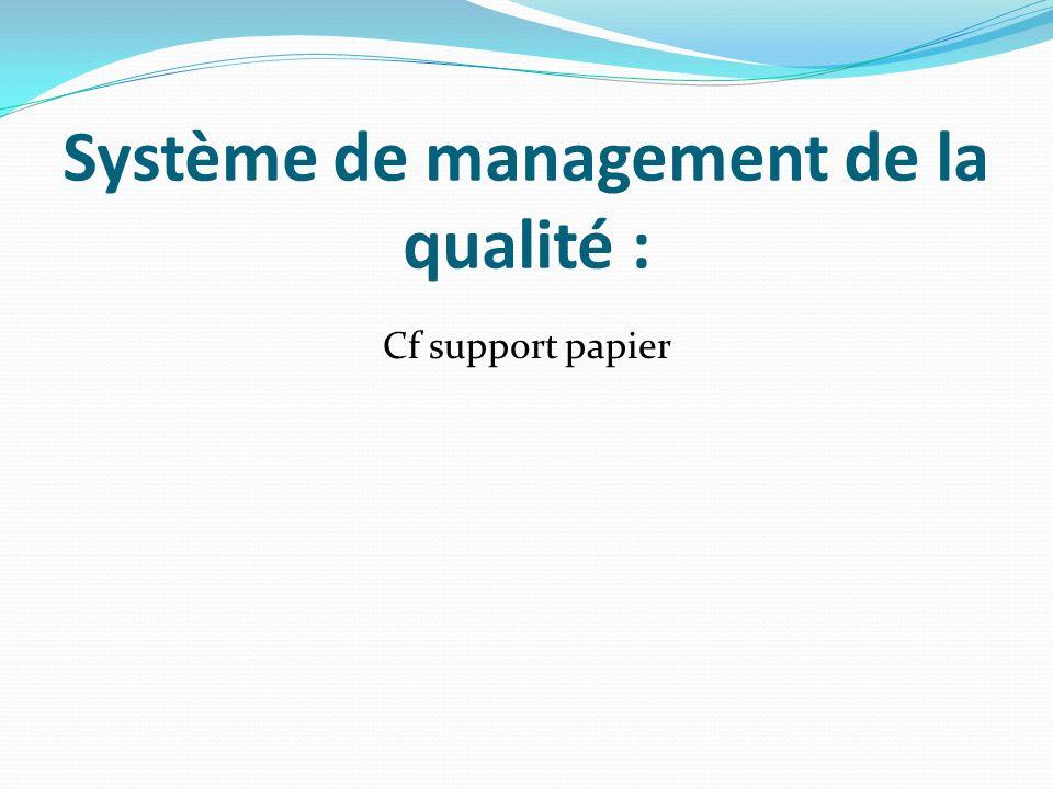 Système de management de la qualité :