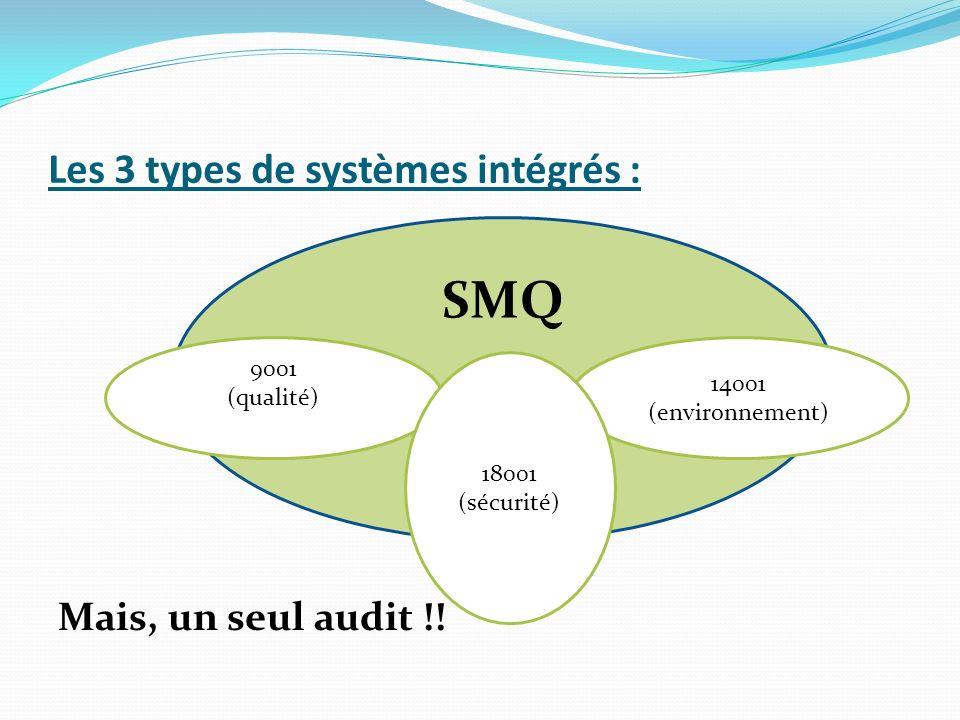 Les 3 types de systèmes intégrés :