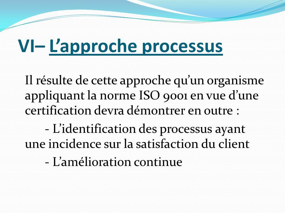 VI– L'approche processus