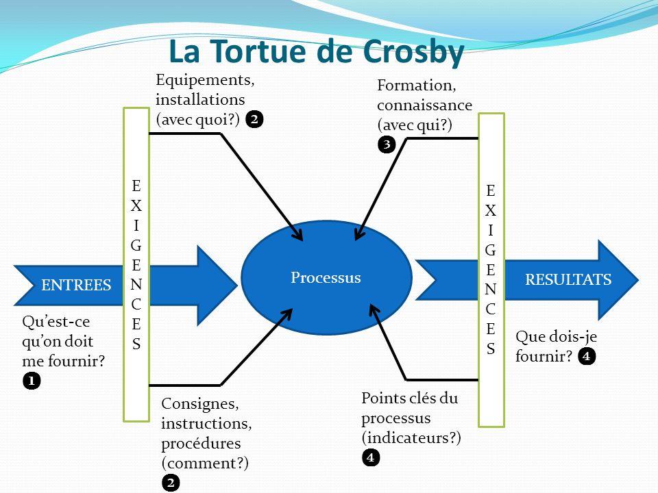 La Tortue de Crosby Equipements, installations (avec quoi ) ❷