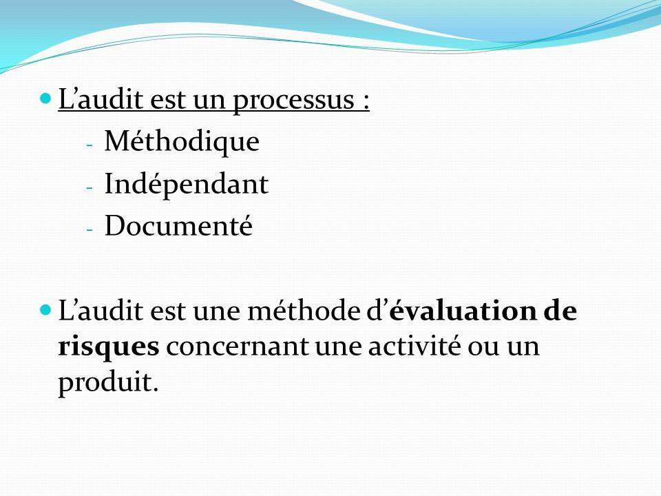 L'audit est un processus :