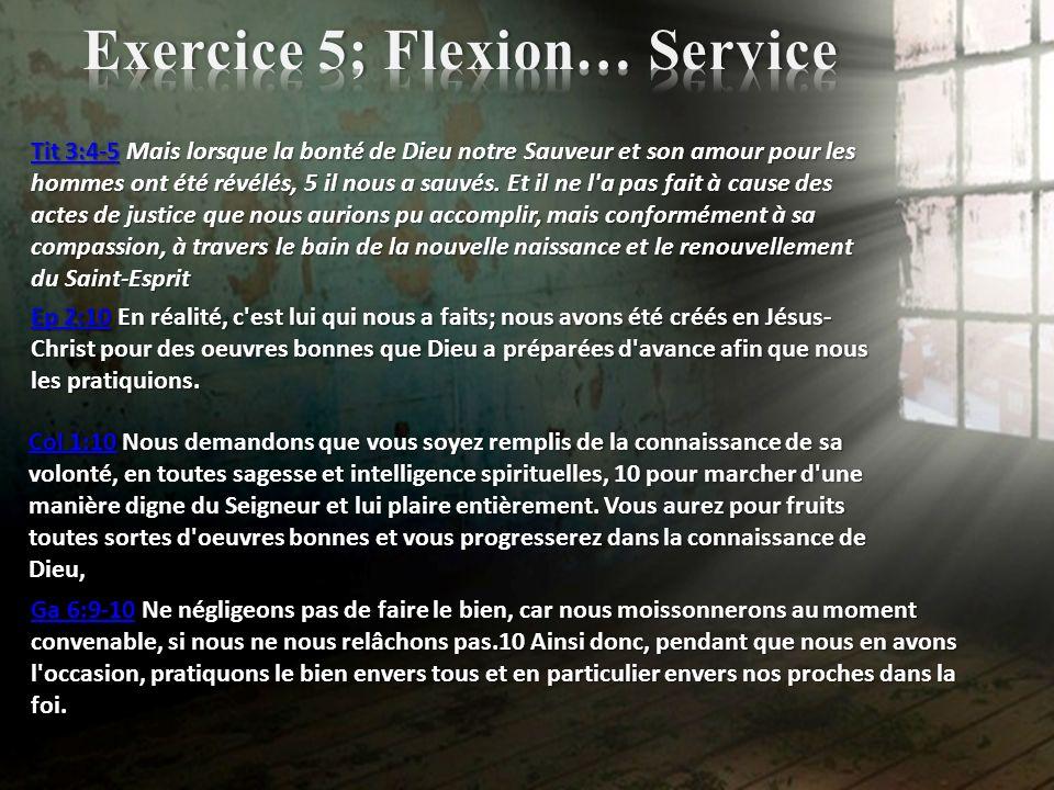 Exercice 5; Flexion… Service
