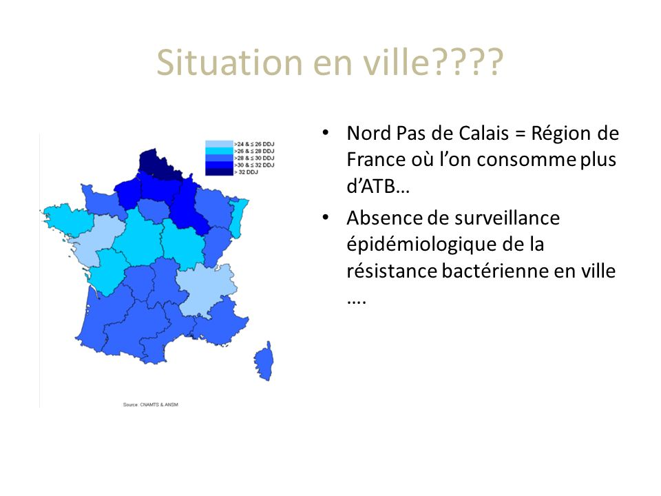Situation en ville Nord Pas de Calais = Région de France où l'on consomme plus d'ATB…
