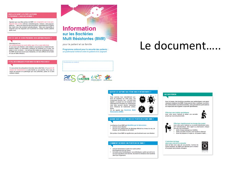 Le document…..